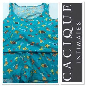 Cacique pajama short set